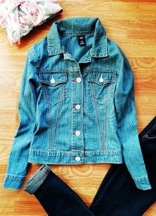 Детская брендовая легкая джинсовая куртка - жакет gap - возраст 7-8 лет
