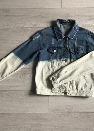 Куртка джинсова l