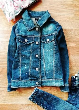 Детская плотная джинсовая куртка - жакет - пиджак - возраст 2 года