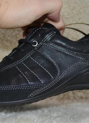 Ecco 38р туфли кроссовки сникерсы кожаные женские