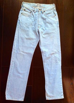 Скидка!!! нереально крутые винтажные джинсы светло-голубые ретро винтаж плотные