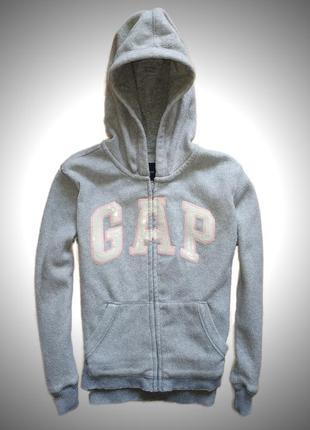 Приятное и теплое зип-худи gap на маленьких модников