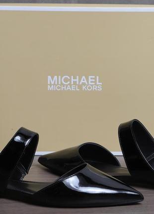 Брендовые лаковые туфли-шлепанцы michael kors