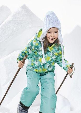 Костюм, детский, для девочки, зимний, лыжный, теплый, мембранный, lupilu, размер 92 , 104