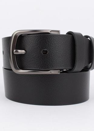 Кожаный ремень под джинсы maybik 15013 черный 40 мм с коробочкой
