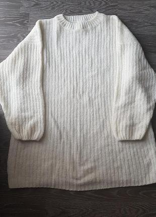 Велюровый свитер платье оверсайз
