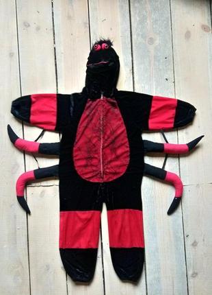 Карнавальный костюм паук паучек вампир 5-6 лет на хэллоуин7