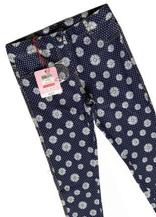 Новые штанишки в цветок ovs италия / джинсы леггинсы в садик