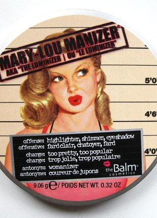 Хайлайтер the balm mary lou manizer оригинал