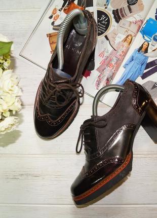 Gkm! кожа/замша! стильные ботильоны, туфли, лоферы на устойчивом каблуке
