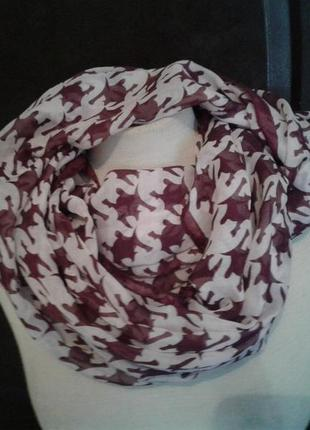 Тонкий шарф-хомут, 160см.2 фото