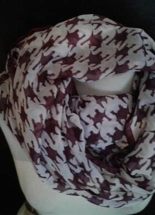 Тонкий шарф-хомут, 160см.3 фото