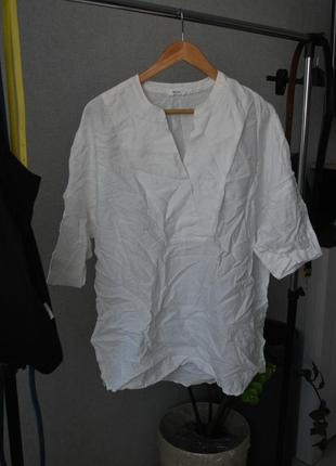 Белая блуза футболка opus оригинального кроя