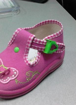 Текстильные босоножки для девочек zetpol1