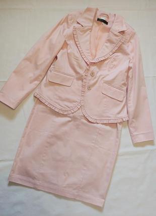 Скидка***костюм нежного бледно-розового цвета
