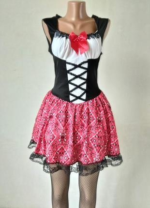 Карнавальное платье на хэллоуин м l на хэллоуин с колготками