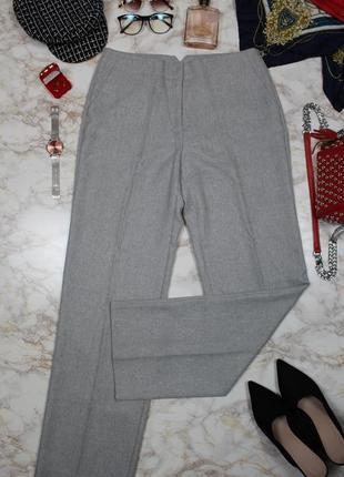 Обнова! теплые брюки классика серые прямые новые шерсть2