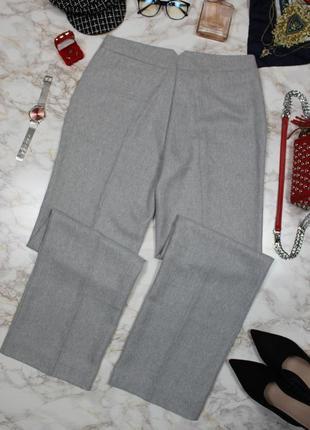 Обнова! теплые брюки классика серые прямые новые шерсть7