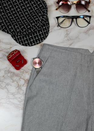 Обнова! теплые брюки классика серые прямые новые шерсть4