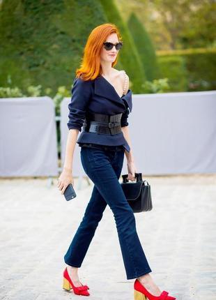 Обнова! трендовые джинсы брюки синие укороченные миниклеш бренд tommy hilfiger