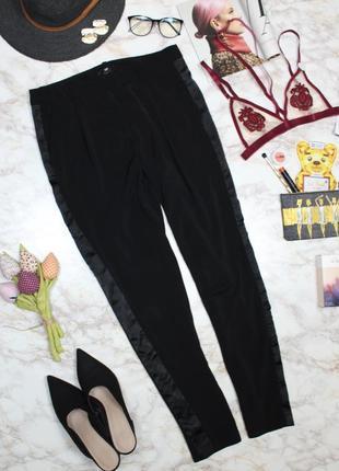 Обнова! брюки штаны зауженные укороченные высокая талия с лампасами h&m2