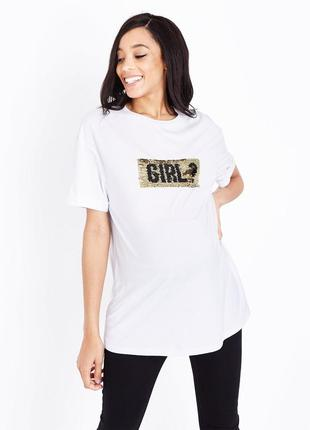Белая футболка для беременных 7760b0edab3e9