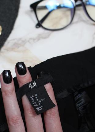Обнова! брюки штаны зауженные укороченные высокая талия с лампасами h&m8