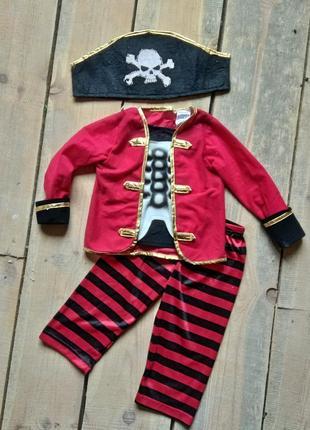 Карнавальный костюм пират 1-2 года зомби1