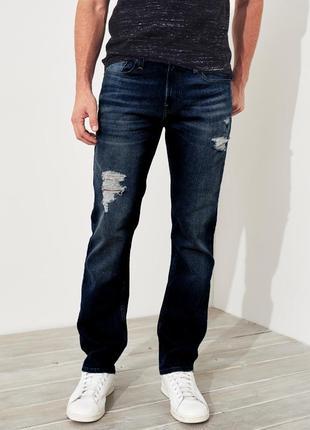 Оригинальные мужские джинсы hollister  fit