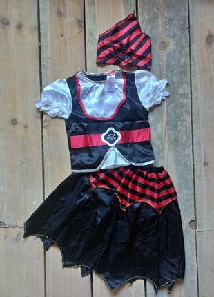 Карнавальный костюм пиратка на 7-8 лет состояние нового1