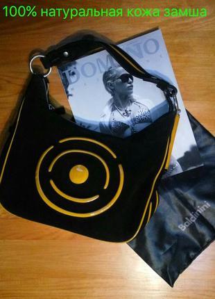 Baldinini оригинал .100% натуральная кожа замша . черная замшевая сумка1 фото