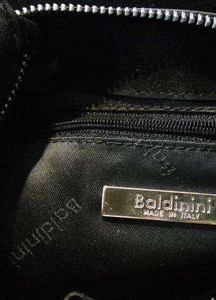 Baldinini оригинал .100% натуральная кожа замша . черная замшевая сумка4 фото