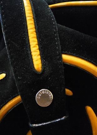 Baldinini оригинал .100% натуральная кожа замша . черная замшевая сумка5 фото