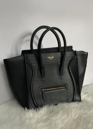 Роскошная черная сумка celine оригинал