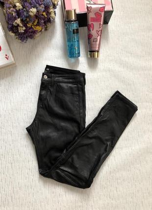 H&m эффектные кожаные штаны 4 размер xs