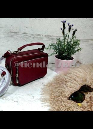 Стильная сумка через плечо (клатч) david jones cm3966 dark red