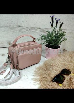 Стильная сумка через плечо (клатч) david jones cm3966 розовый