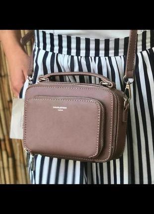Стильная сумка через плечо (клатч) david jones cm3966 темно-розовый