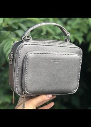 Стильная сумка через плечо (клатч) david jones cm3966 бронзовый