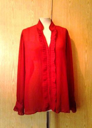 Красная шифоновая блузка ,2xl.
