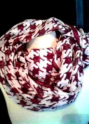 Тонкий шарф-хомут, 160см.