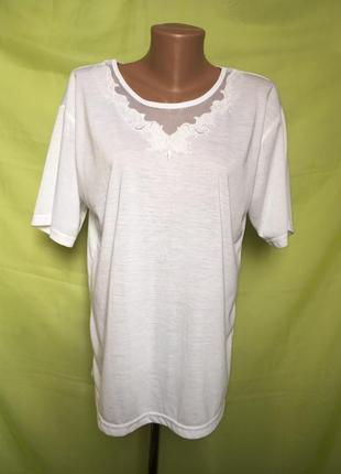 Белая футболка 52 р