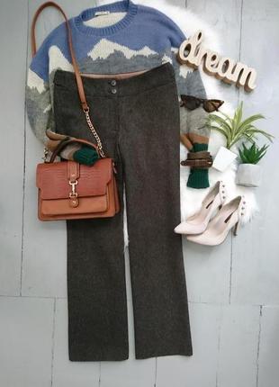 Актуальные прямые  брюки с шерстью №341