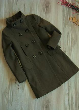 Пальто zara kids 80% шерсть в отличном состоянии рост 134-140