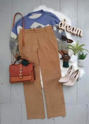 Актуальные прямые сатиновые брюки №344