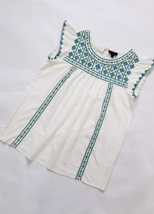 Красивая блуза с вышивкой topshop