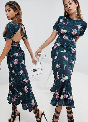 Платье макси fashion union с цветочным принтом с сайта asos