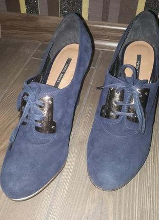 Туфли синие vitto rossi оригинал