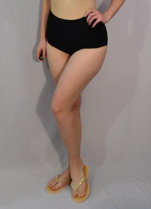 2707\20 высокие черные трусики для купания simply yours xxl