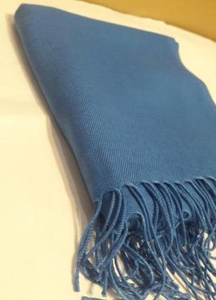 🌼красивейшая турецкая пашмина джинсового цвета шарф шаль